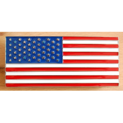 Boucle de Ceinture Drapeau USA Rectangle Country Western