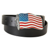 Ceinture Country Western Drapeau USA Flag