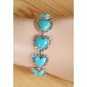 Bracelet Turquoise Howlite Petits Coeur Country Western