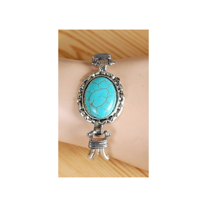 Bracelet Turquoise Howlite Hell Jack Country Western