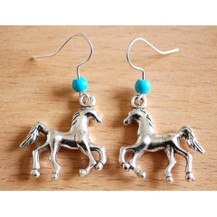 Boucles d'oreilles Cheval Turquoise Country Western