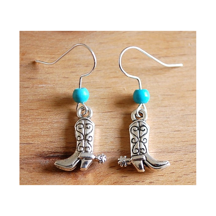 Boucles d'oreilles Santiag Turquoise Country Western