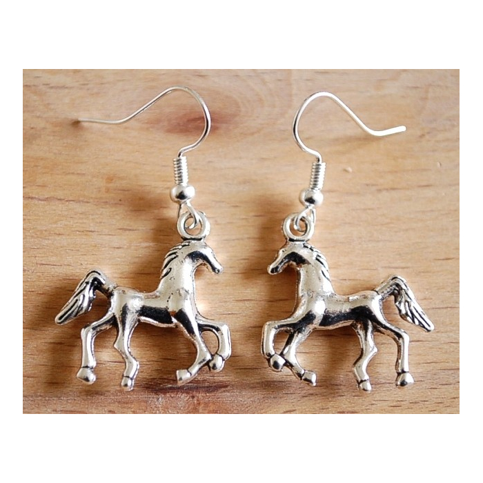 Boucle d'oreilles Cheval Country Western