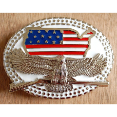 Boucle de Ceinture Blanche Aigle USA Winchester Country Western