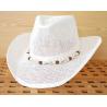 Chapeau Country Western Bourdalou Eté Coquillages Blanc