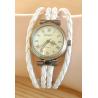 Montre Bracelet - Large - Lacet Blanc - Country Western