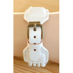 Montre Bracelet - Large - Lacet Blanc Fermoir - Country Western