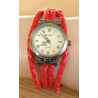 Montre Bracelet - Large - Lacet Rouge - Country Western