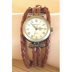 Montre Bracelet - Large - Lacet Marron - Country Western