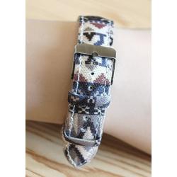 Montre Bracelet Tissu Cheyenne - Country Western Cowboy