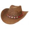 Bourdalou Corde Bolo Rouge Motifs Ronds - Country Western