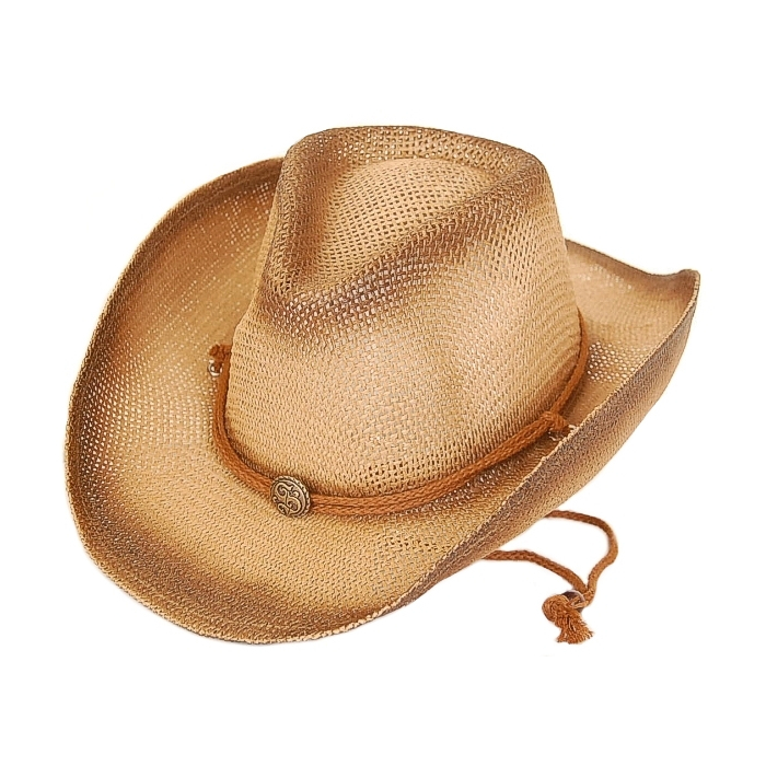 Chapeau Country Western Bourdalou Havane Marron