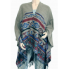 Cape Poncho Gris Country Western Cowboy