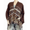 Cape Poncho Marron Country Western Cowboy