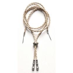 Cordon Jugulaire - Perle Céramique - Blanc Cassé - Country Western