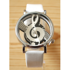 Montre Bracelet Musique - Fond Transparent - Blanc - Country Western