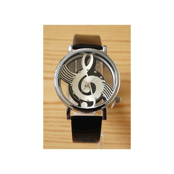 Montre Bracelet Musique - Fond Transparent - Noir - Country Western