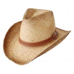 Chapeau de Paille Country Western Bourdalou avec Boucle
