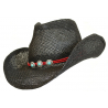 Bourdalou Lanière Rouge - Concho Ronds Turquoise - Country Western