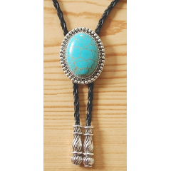Bolo Tie Cabochon Turquoise Howlite Country Western