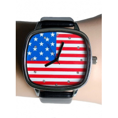 Montre Bracelet Drapeau USA Rectangle - Country Western