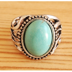 Bague Turquoise Vintage Ovale Country Western