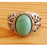 Bague Turquoise Vintage Ovale Papillon Country Western