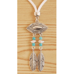 Collier Pendentif Pierres Turquoise Grand Aigle Country Western