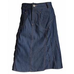 Jupe Jeans Mi-longue Surpiqures Eté Country Western