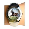 Montre Bracelet Pince- Têtes de Chevaux - Country Western