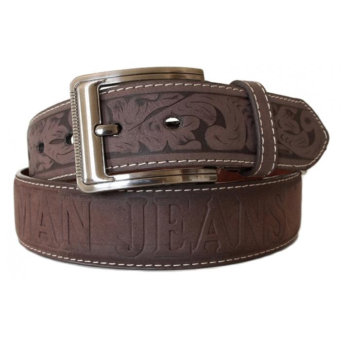 Cuir Ceinture Country Croûte Western Cowboy Marron Homme De shtQrd