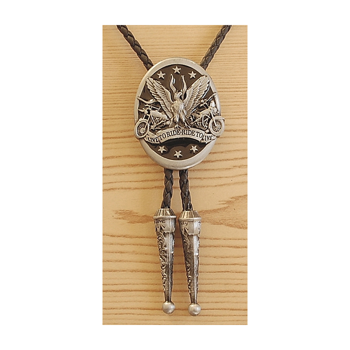 Bolo Tie Live To Ride Country Western Cowboy
