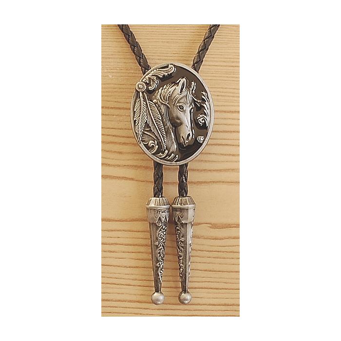 Bolo Tie Tête de Cheval Country Western Cowboy