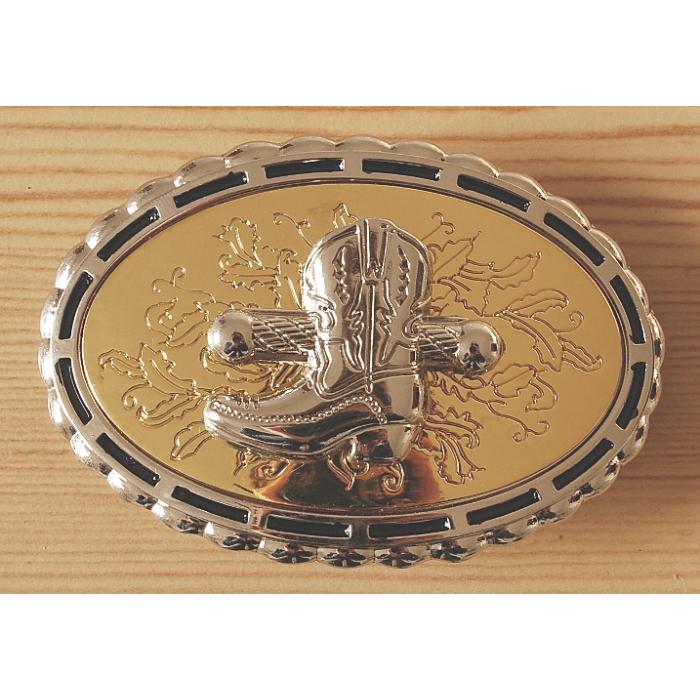 Boucle de Ceinture Fond Or Santiag Country Western Cowboy