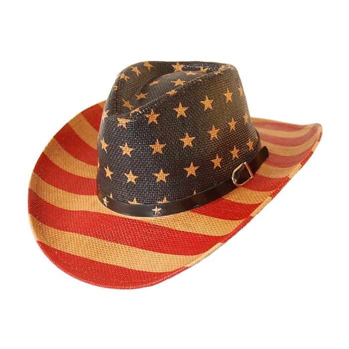 chapeau country western cowboy drapeau usa bourdalou etoiles. Black Bedroom Furniture Sets. Home Design Ideas