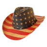 Chapeau Country Western Cowboy Drapeau USA Bourdalou Etoiles