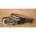 Tour de Botte Noir Rivets Country Western Cowboy