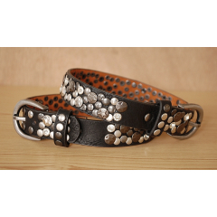 Tour de Botte Large Noir Rivets Etoiles et Strass Country Western Cowboy