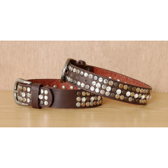 Tour de Botte Country Western Cowboy Clous Rivets Strass Marron