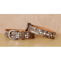 Tour de Botte Country Western Cowboy Clous Rivets Strass Taupe