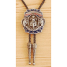 Bolo Tie Moto Live To Ride Country Western Cowboy