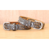 Tour de Botte Gris Strass et Rivets Country Western