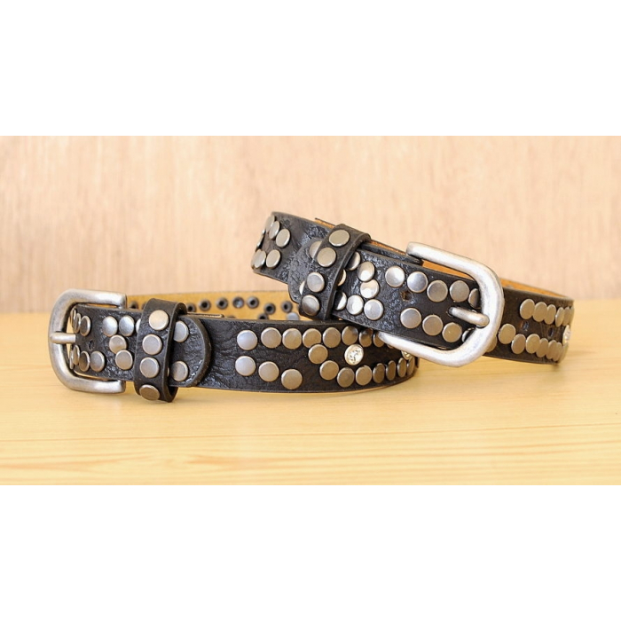 Tour de Botte Noir Strass et Rivets Country Western