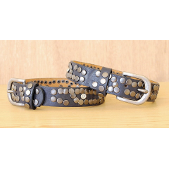 Tour de Botte Bleu Strass et Rivets Country Western