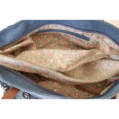 Sac Cabas Fourre-tout Toile Jean Denim Patchwork Country Western J03