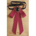 Cravate Rouge Noeud Papillon Médaillon Old West Country Western Cowboy