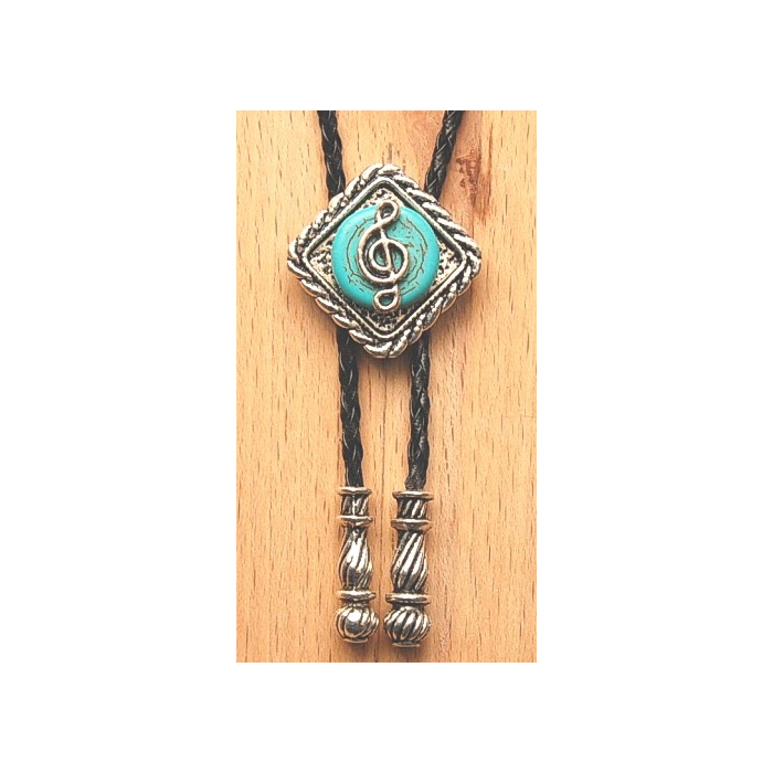Bolo Tie Losange Turquoise Musique Country Western