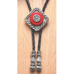 Bolo Tie Losange Rouge Concho Country Western