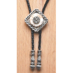 Bolo Tie Losange Blanc Concho Country Western