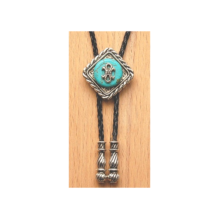 Bolo Tie Losange Turquoise Noeud Country Western
